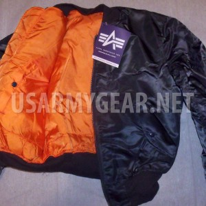 Made in USA MA-1 Alpha Industries US Army Pilot Flight Military Bomber AF Jacket
