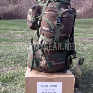US Army Molle Large Ruck Sack Woodland Back Pack System Set Gen 4 Frame -You Fix