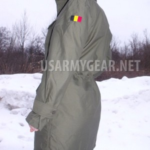 Belgian Army Military New OD Green Field Combat Women's Coat Jacket & Badge