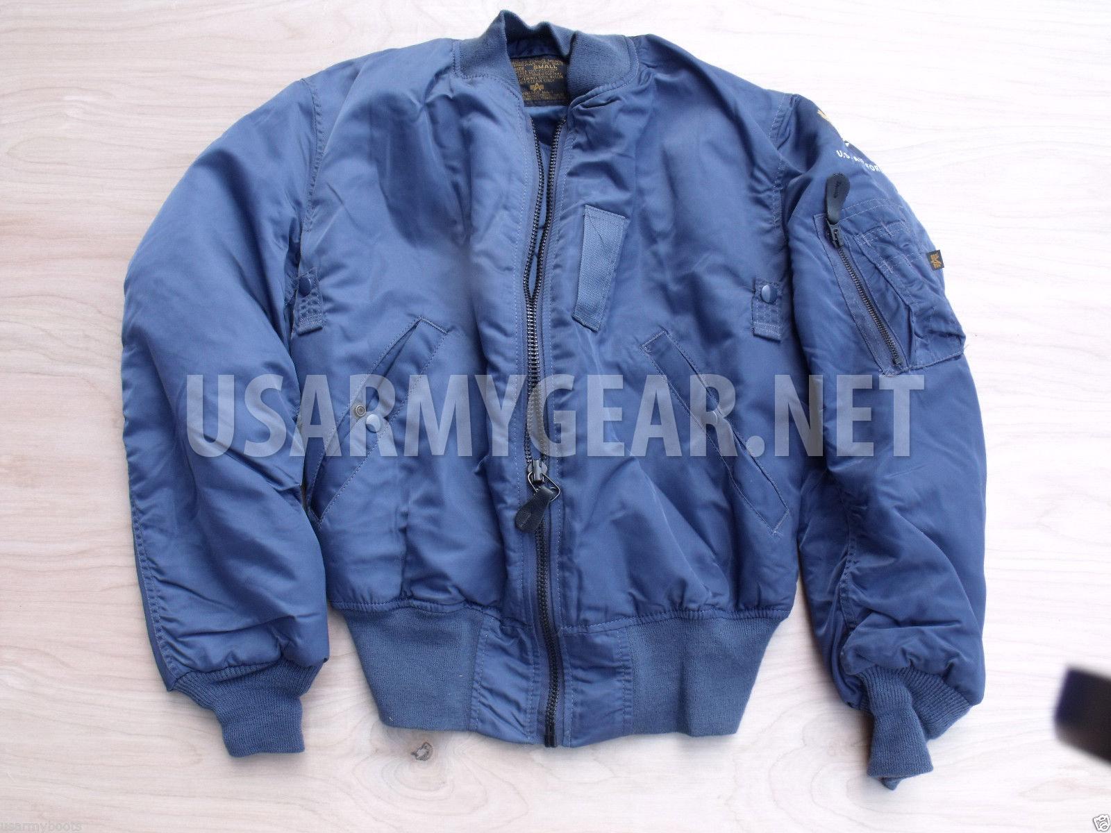 meet 369a7 8aa95 NEW Made in USA MA-1 Alpha Industries Pilot, Flight Jacket, US Air Force  Coat, Small