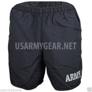 Made in USA Military ARMY Black PT PTU Phisycal Training Uniform Running Shorts