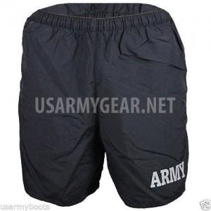 Made in USA Military ARMY Black PT PTU Phisycal Training Uniform Running Shorts