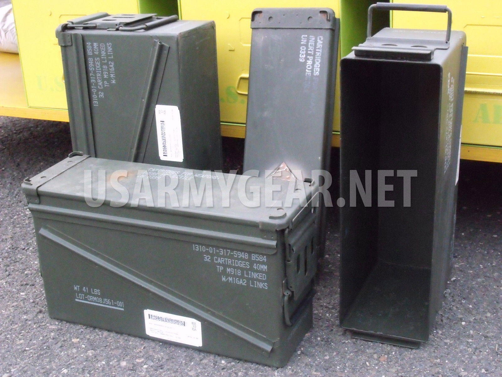 Us Army Miltary Gi Surplus 40mm Pa 120 Large Ammo Can