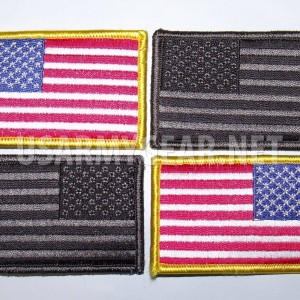 4 New US Army American Flag Military Uniform Velcro Patch Standard Reverse Acu