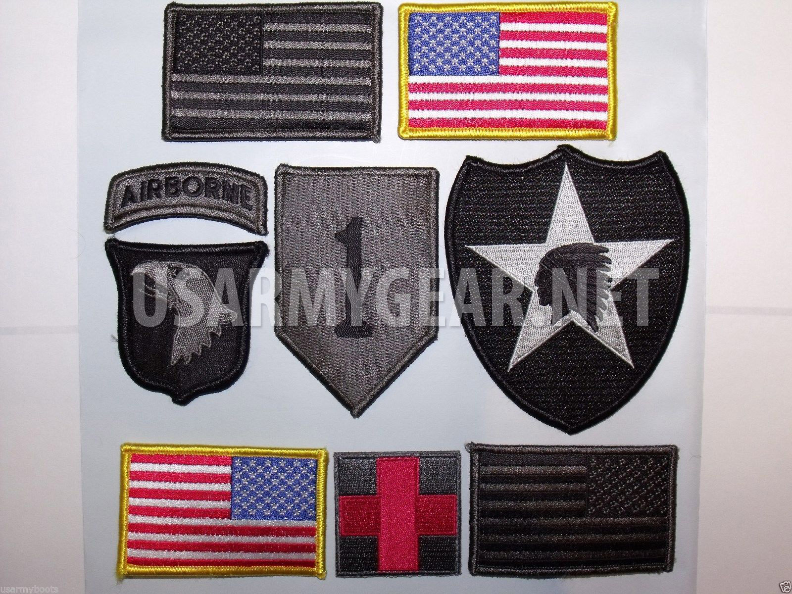 4 New Us Army American Flag Military Uniform Velcro Patch