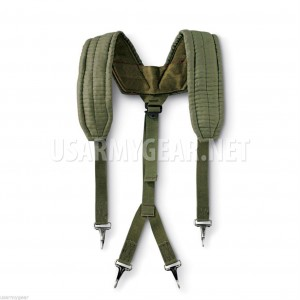 US Military Y SUSPENDERS LC-1 LBE Load Bearing Equipment Shoulder Harness OD VGC