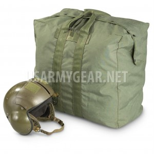 USAF OD Olive Drab Flyer's Kit Flight Cotton Duck Canvas Pilot Parachute Bag GI