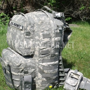 FULLY LOADED US Army Military MOLLE II ACU Medium Rucksack