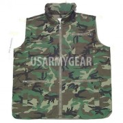 New Military Army Outdoor Woodland Camouflage Multi Pocket Ranger Collar Vest L