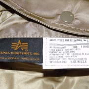 08NEW MA-1 Alpha Industries US Army Pilot Flight Military Bomber AF Jacket Silver