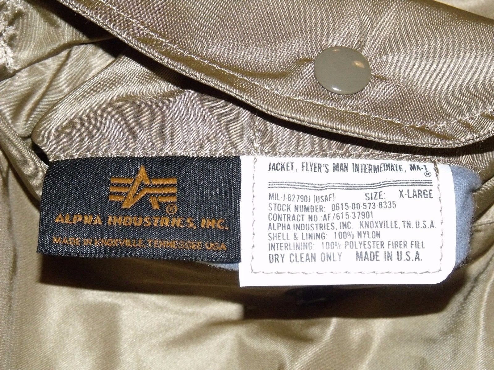 1acee9cba01 08NEW MA-1 Alpha Industries US Army Pilot Flight Military Bomber AF Jacket  Silver